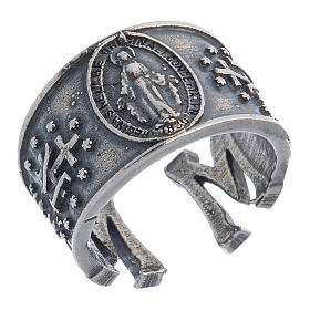 Ring in sterling silver Miraculous Medal s1