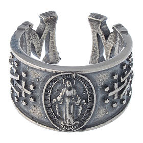 Ring in sterling silver Miraculous Medal s2