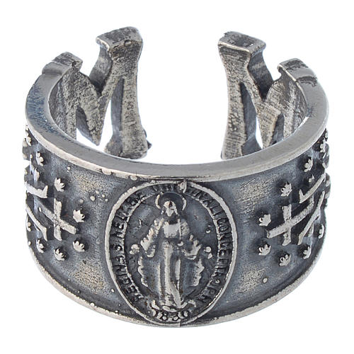 Ring in sterling silver Miraculous Medal 2