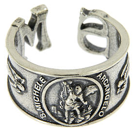 Ring in sterling silver Saint Michael the Archangel s2