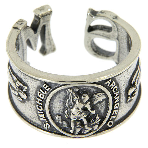 Ring in sterling silver Saint Michael the Archangel 2