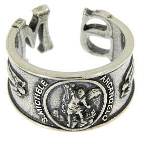 Obrączka Święty Michał Archanioł srebro 925 s2