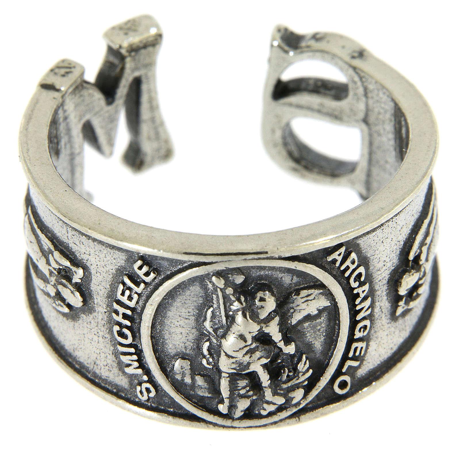 Anel São Miguel Arcanjo prata 925 3