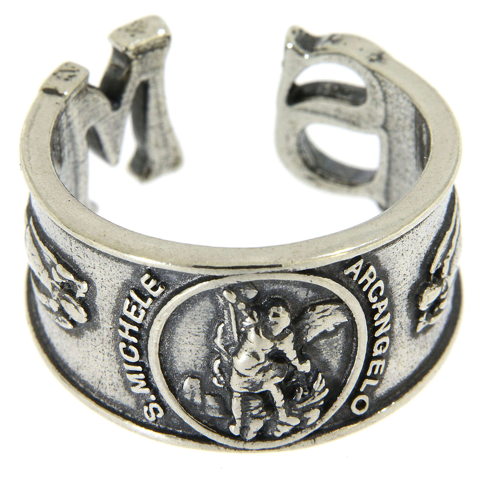 Ring in sterling silver Saint Michael the Archangel 3