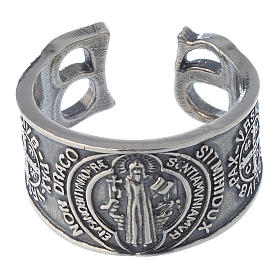 Ring in sterling silver Saint Benedict s2