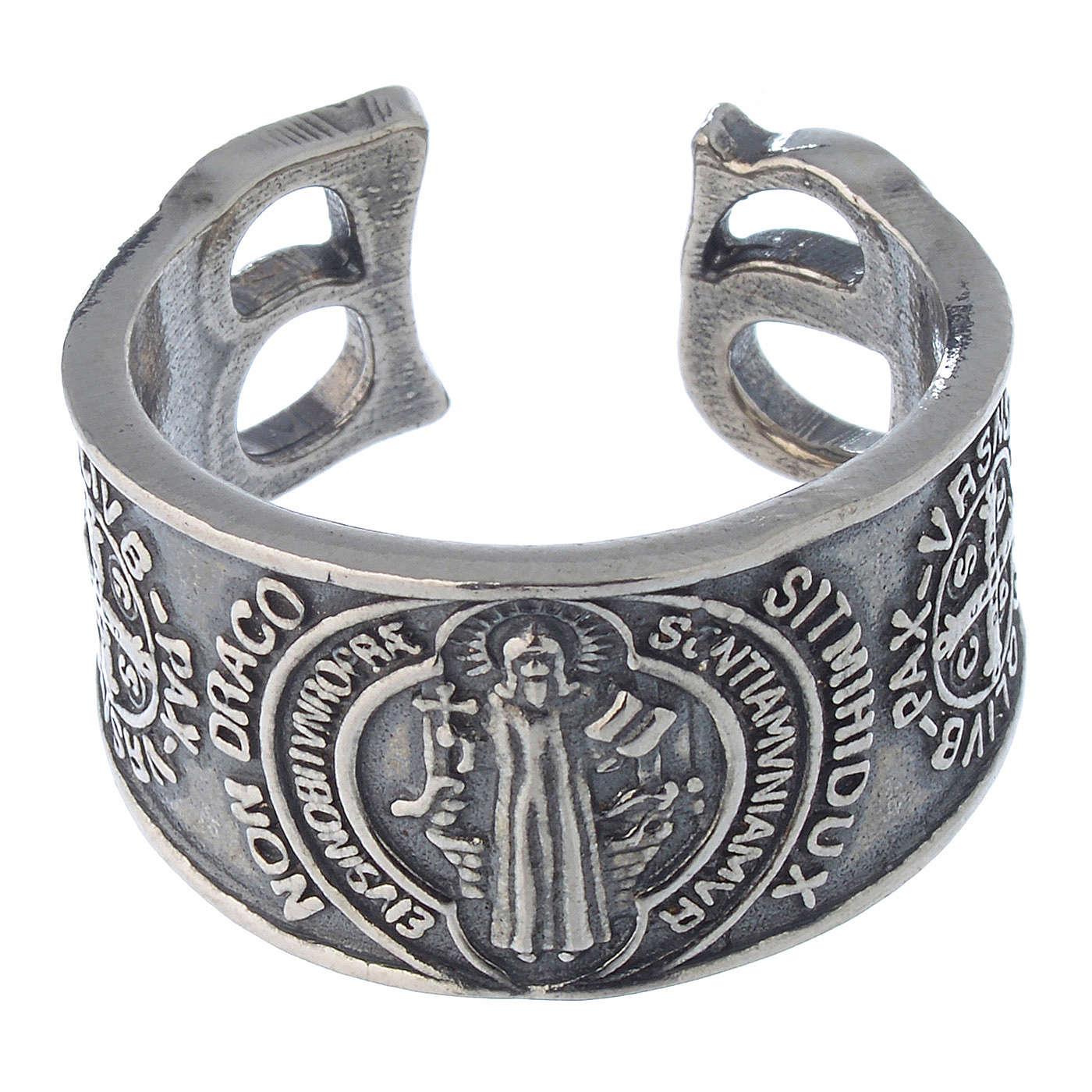 Anello San Benedetto in argento 925 3