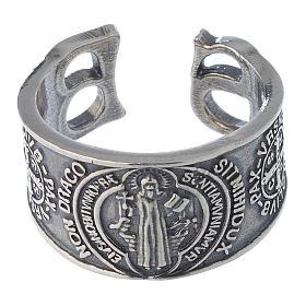Anello San Benedetto in argento 925 s2