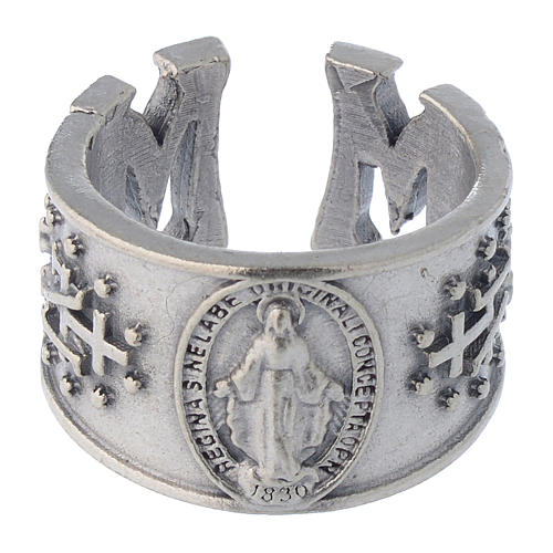 Ring in pewter Miraculous Medal 2