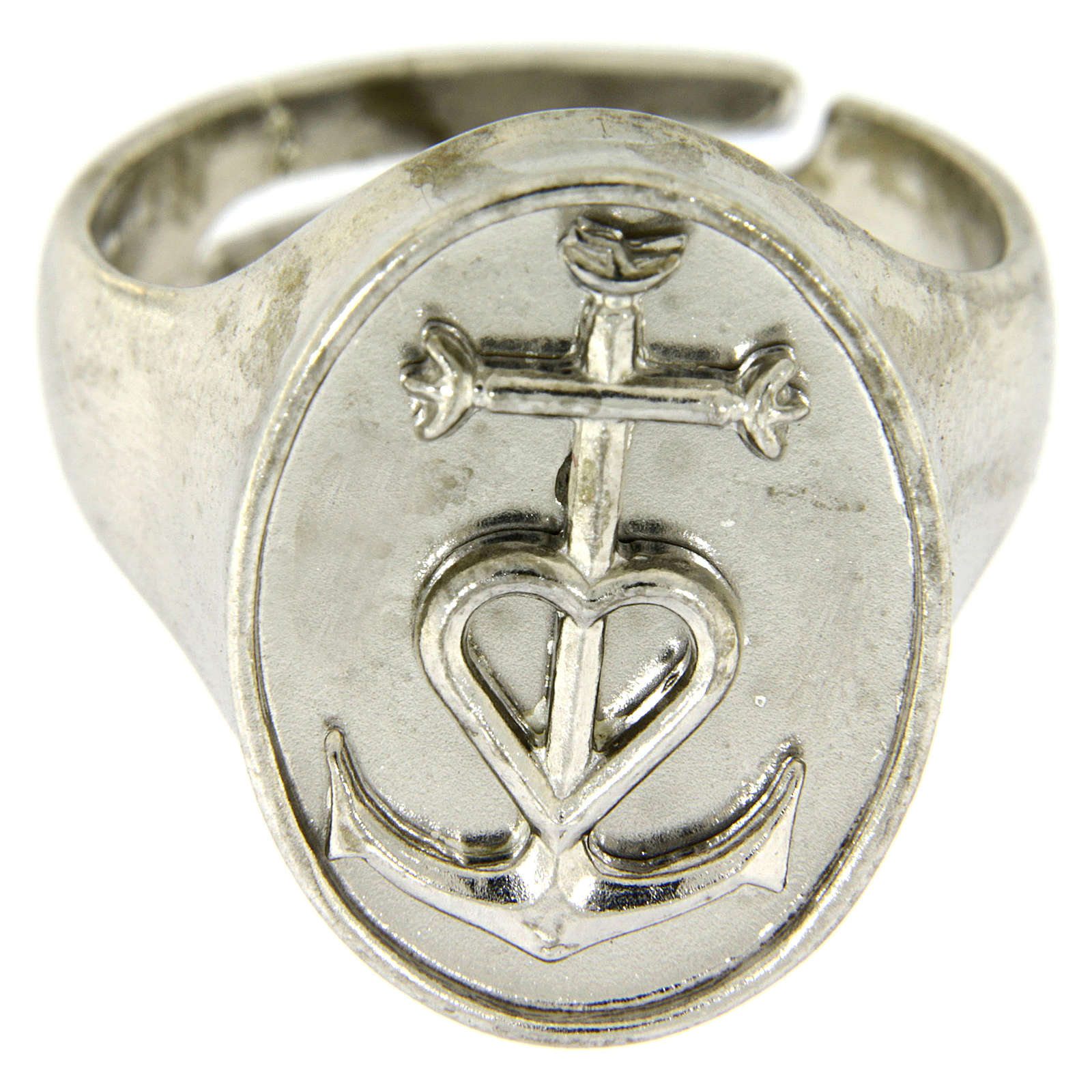 Ring in sterling silver, Faith Hope and Charity 3