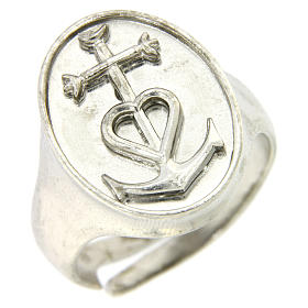 Ring in sterling silver, Faith Hope and Charity s1
