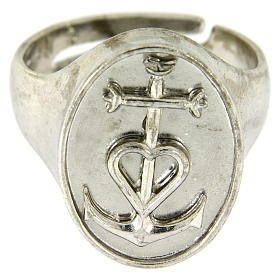 Ring in sterling silver, Faith Hope and Charity s2