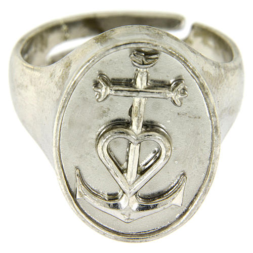 Ring in sterling silver, Faith Hope and Charity 2