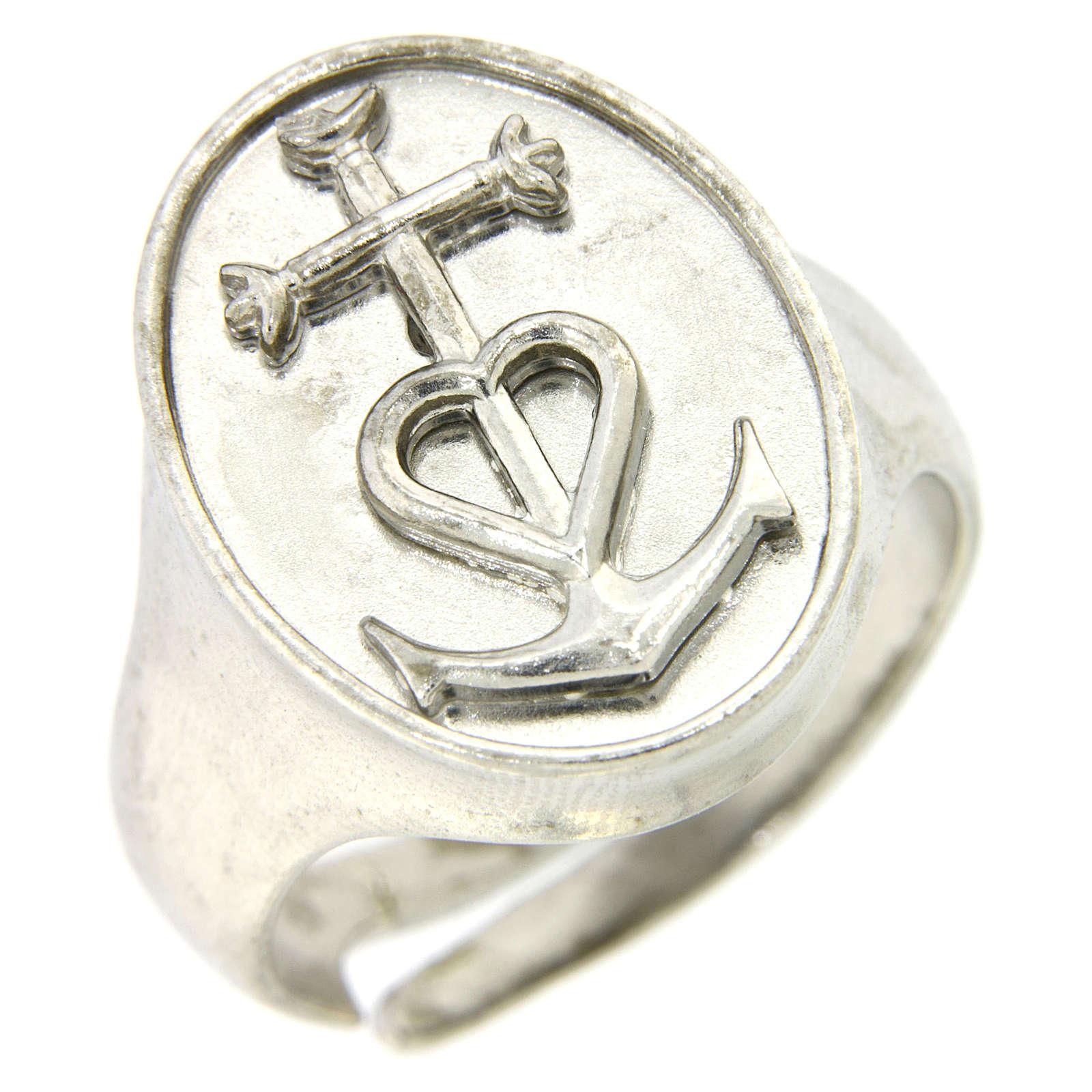 Anello fede speranza e carità Argento 925 3
