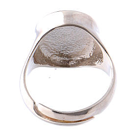 Ring in burnished silver with votive heart symbol s5