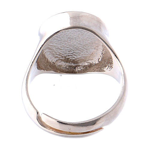 Ring in burnished silver with votive heart symbol 5
