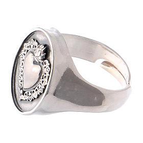 Anello simbolo cuore votivo Argento brunito s3