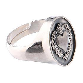 Anello simbolo cuore votivo Argento brunito s4