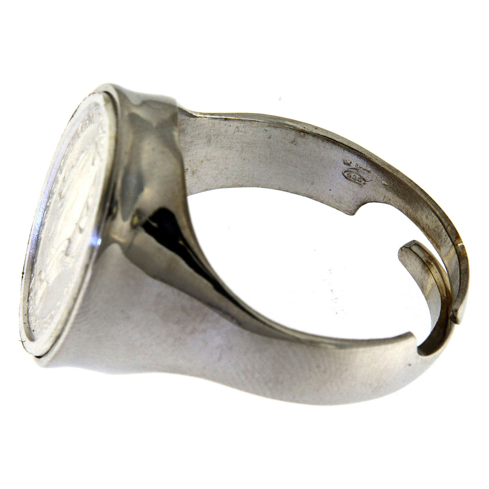 Ring in sterling silver with Miraculous Medal 3
