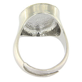Ring in sterling silver with Miraculous Medal s3
