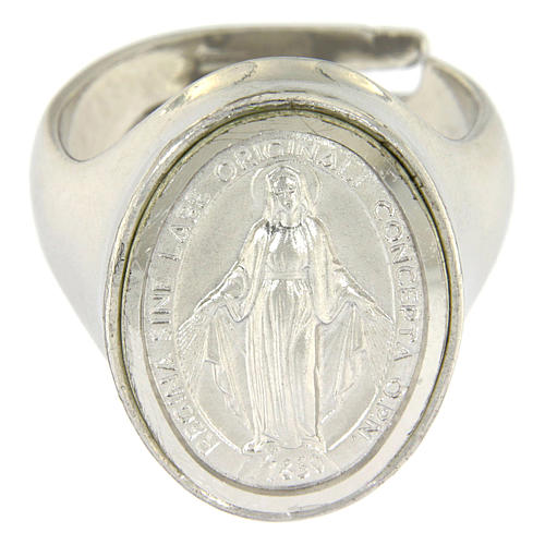Ring in sterling silver with Miraculous Medal 2