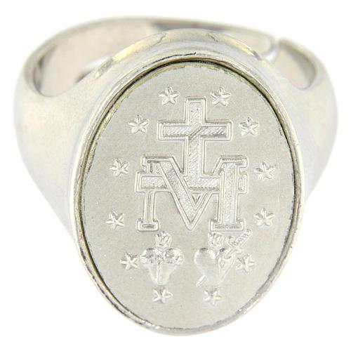 Bague Médaille Vierge Miraculeuse argent 925 2