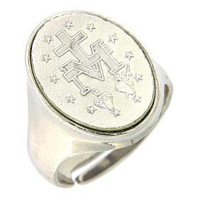 Anello medaglia Madonna Miracolosa Argento 925 s1