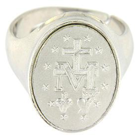 Anello medaglia Madonna Miracolosa Argento 925 s2