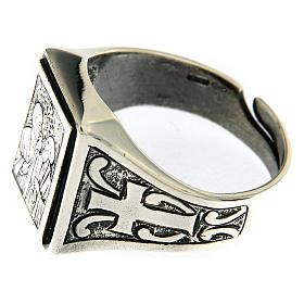 Anillo símbolo Viña del Señor plata 925 envejecida s3