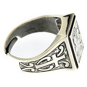 Anillo símbolo Viña del Señor plata 925 envejecida s4