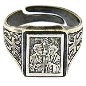 Anello simbolo Vigna del Signore argento 925 anticato s2