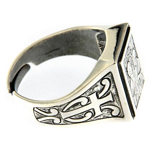 Anello simbolo Vigna del Signore argento 925 anticato 4