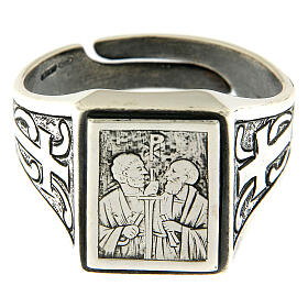 Saint Peter and Saint Paul ring in sterling silver s2