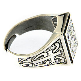 Saint Peter and Saint Paul ring in sterling silver s4