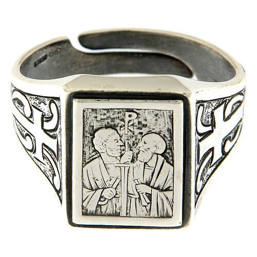 Saint Peter and Saint Paul ring in sterling silver 2