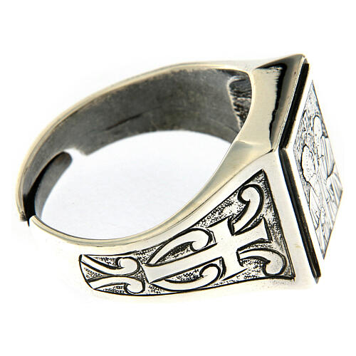 Saint Peter and Saint Paul ring in sterling silver 4