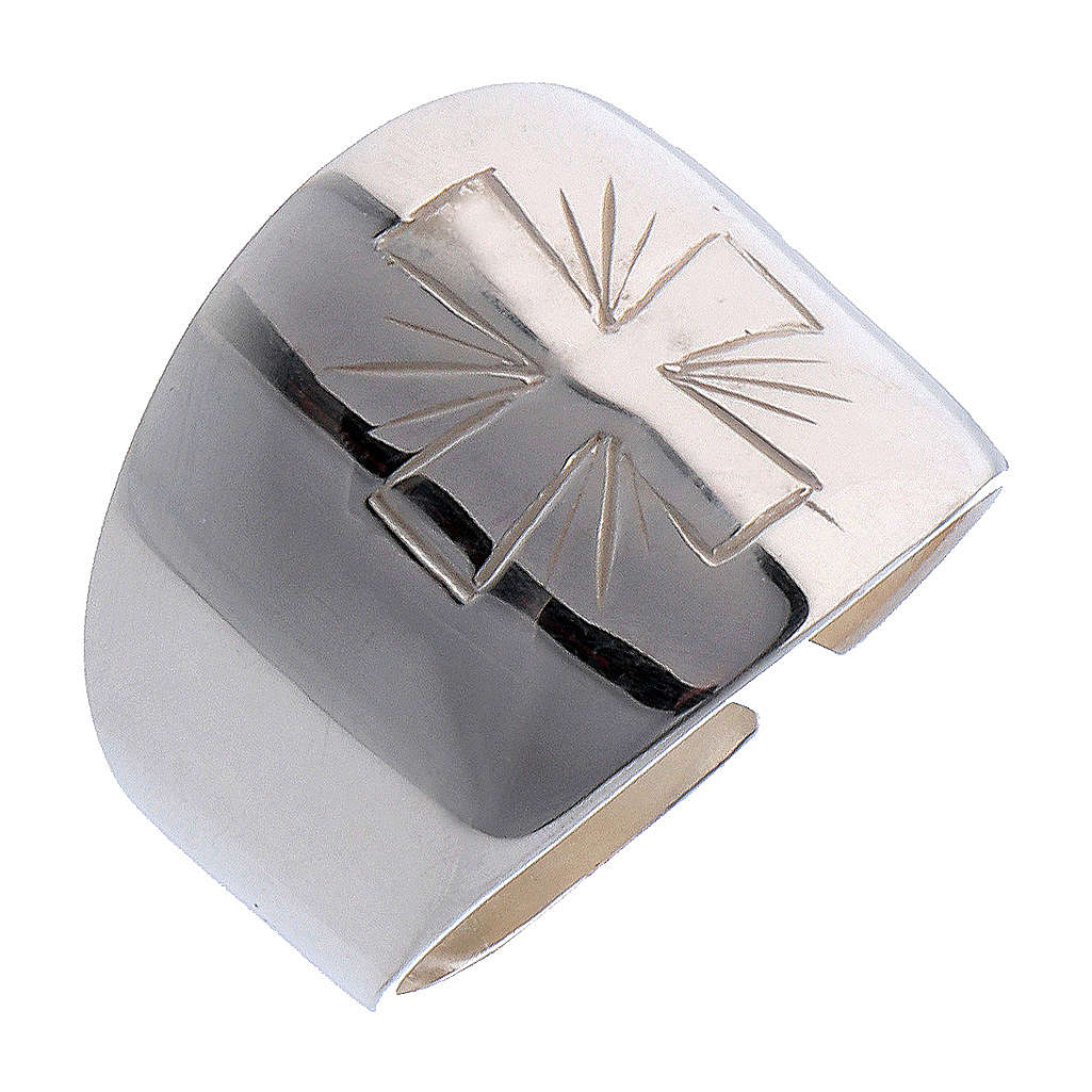 Ring in sterling silver with carved Cross 3