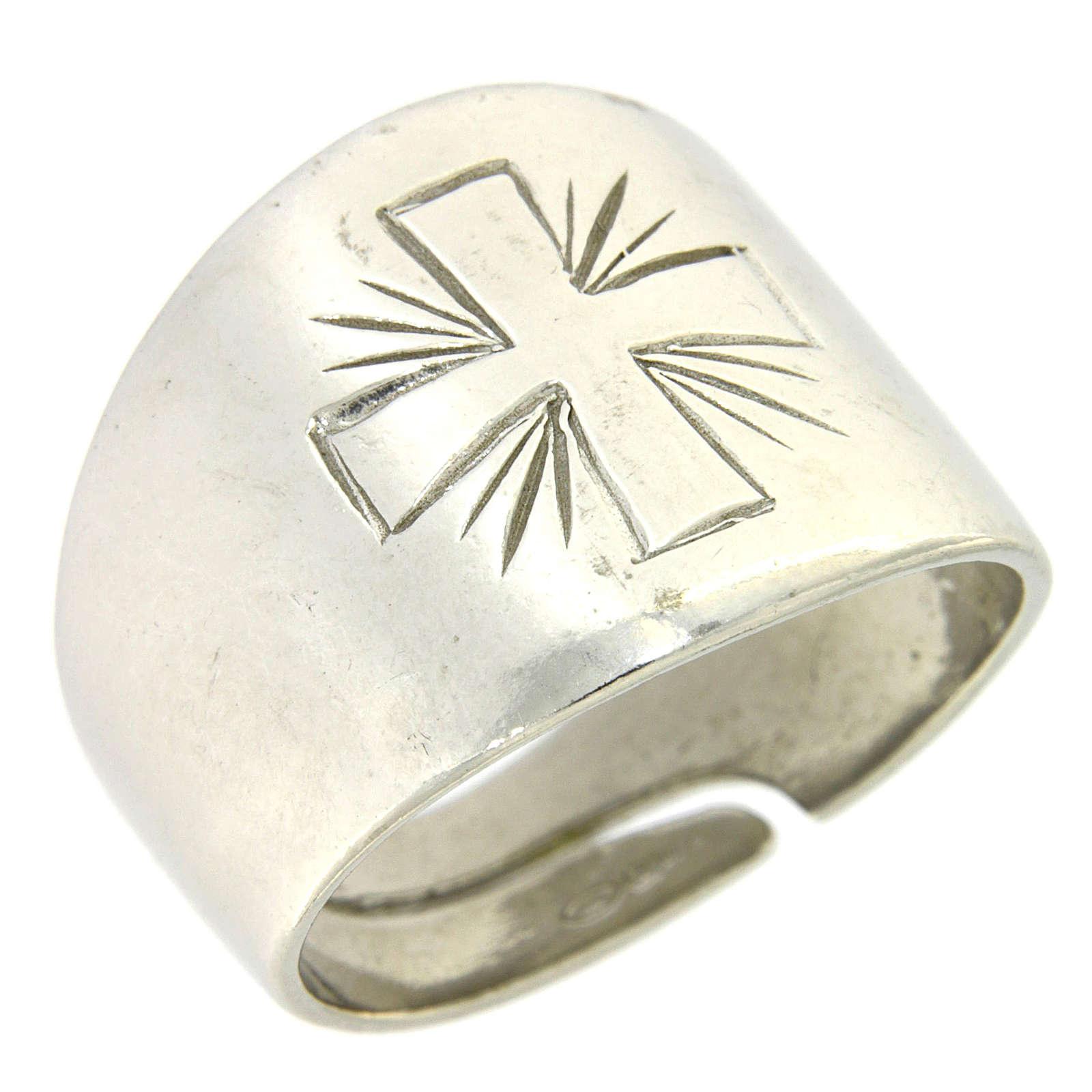 Anello Argento 925 con croce incisa 3