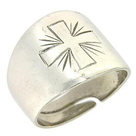 Anello Argento 925 con croce incisa s1