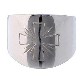 Anello Argento 925 con croce incisa s2