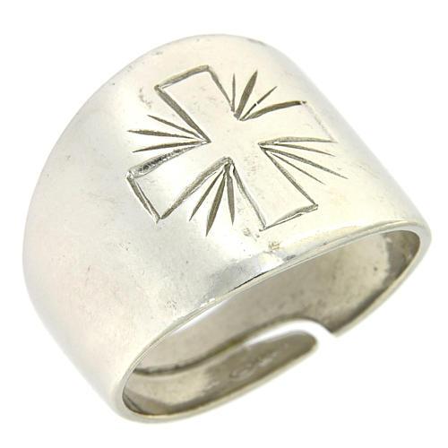 Anello Argento 925 con croce incisa 1
