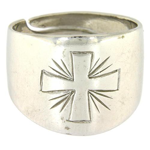 Anello Argento 925 con croce incisa 2