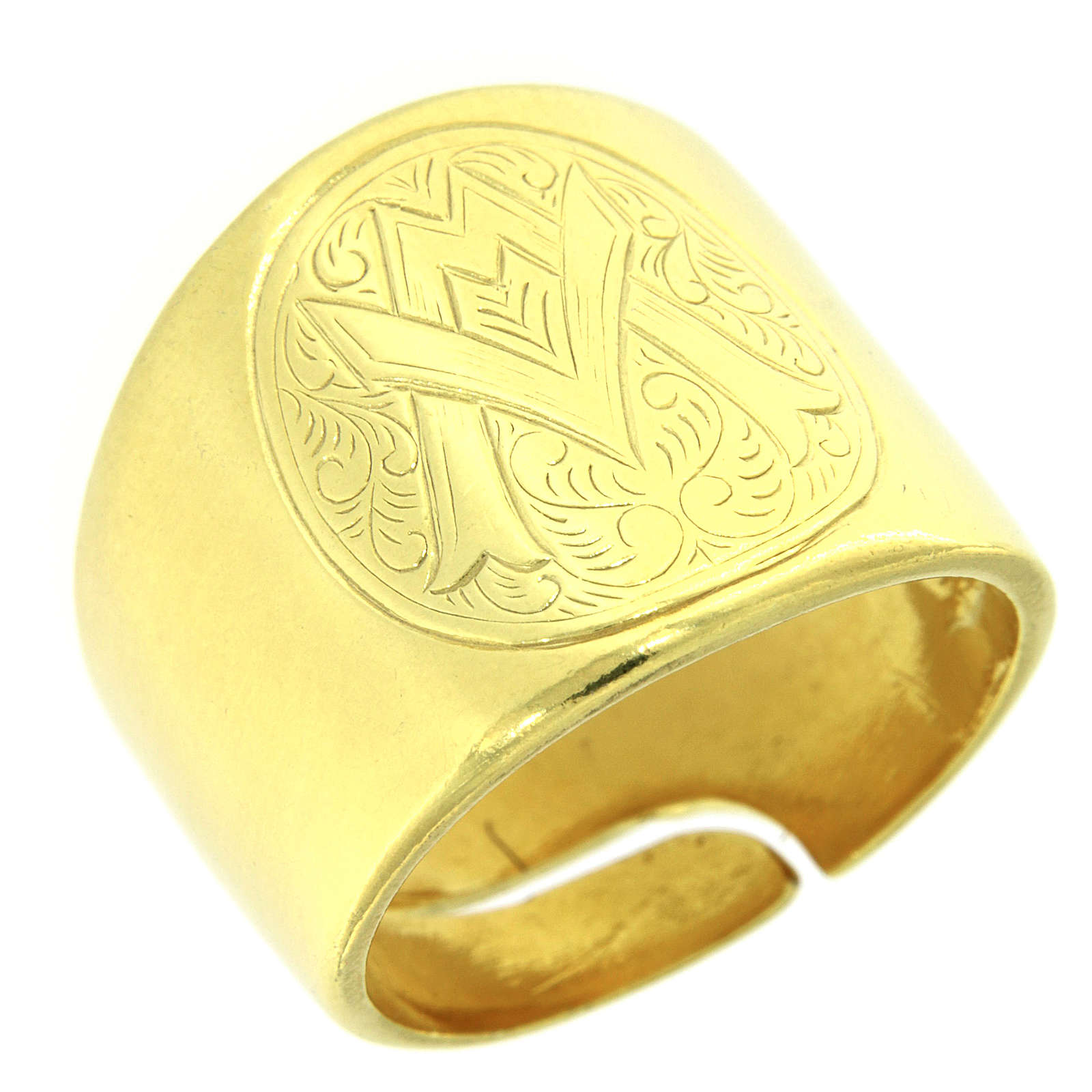 Ring in sterling silver with Ave Maria symbol 3