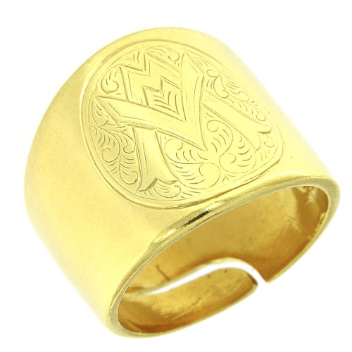 Ring in sterling silver with Ave Maria symbol 1