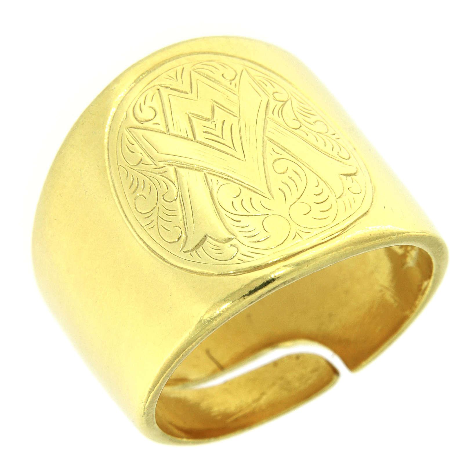 Bague symbole Ave Maria argent 925 3