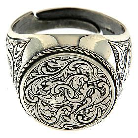 Ring Silber 925 mit Blumen Gravierung s2