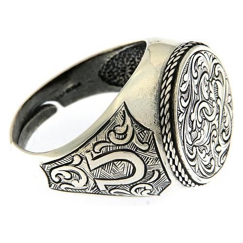 Ring Silber 925 mit Blumen Gravierung 4