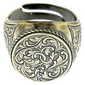 Anello con incisione motivo floreale Argento 925 s2