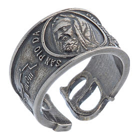 Ring in silver Saint Pio of Pietralcina s1