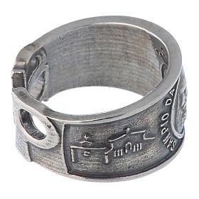 Ring in silver Saint Pio of Pietralcina s3