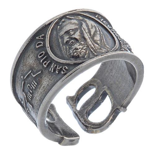 Ring in silver Saint Pio of Pietralcina 1
